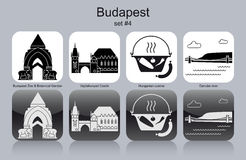 Icons of Budapest Royalty Free Stock Photography
