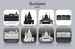 Icons of Budapest Royalty Free Stock Photos