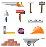 Icons of building instruments Royalty Free Stock Photography
