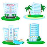 Icons of buildings Royalty Free Stock Images