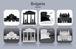 Icons of Bulgaria Royalty Free Stock Photos