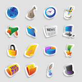 Icons for business. And finance. Vector illustration Royalty Free Stock Image