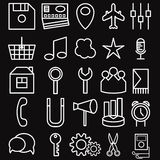 Icons of business and entertainment theme Royalty Free Stock Images