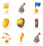Icons for business and finance Stock Photos
