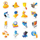 Icons for business and finance Royalty Free Stock Image