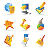 Icons for business and finance. Vector illustration Royalty Free Stock Image