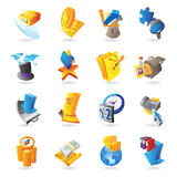 Icons for business and finance Stock Images