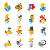 Icons for business and finance. Vector illustration Stock Image
