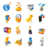 Icons for business and finance. Vector illustration Royalty Free Stock Images