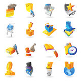 Icons for business and finance Royalty Free Stock Photo