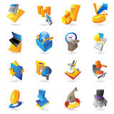 Icons for business and finance Stock Photo