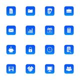 Icons about business, finance and utilities. This variety of icons are ideal for use in business, finance or utilities Royalty Free Stock Images