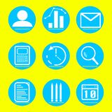 Icons business and finance  illustration stock illustration