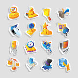 Icons for business and finance Stock Image