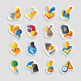 Icons for business and finance Stock Photography