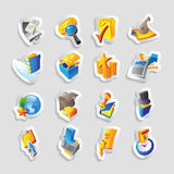 Icons for business and finance. Vector illustration Royalty Free Stock Photography