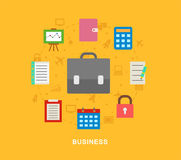 Icons and business Royalty Free Stock Images
