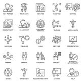 Icons business and kinds of mental activity of the person. Stock Images