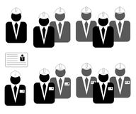 Icons for business, management, engineering, mechanical engineer. Ing, construction Royalty Free Stock Image