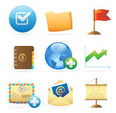 Icons for business metaphor. S and symbols. Vector illustration Royalty Free Stock Image