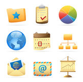 Icons for business metaphor Royalty Free Stock Image