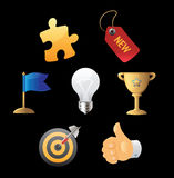 Icons for business metaphor Stock Images