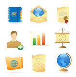 Icons for business metaphor Stock Image