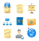 Icons for business metaphor. S and symbols. Vector illustration Stock Photography