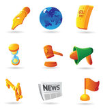 Icons for business metaphor Royalty Free Stock Photo
