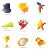 Icons for business metaphor. Vector illustration Stock Images