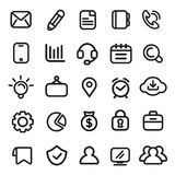 Icons, Business, Modern, Design Elements Stock Photography