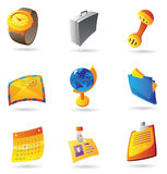 Icons for business office Stock Photography