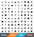 Icons Business, Office & Finance Stock Photo