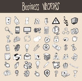 56 Icons Business s. Hand drawn Stock Photos