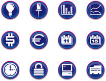 Icons - business set 1. A set of business/office themed icons stock illustration
