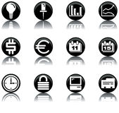 Icons - business set 2. A set of business/office themed icons stock illustration