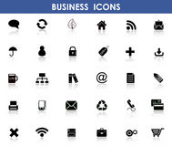 Icons for Business. Set of flat Icons for Business Stock Photo