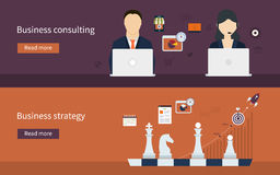 Icons for business strategy Stock Photo