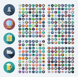 Icons for business, technology, industrial, food and drinks. Flat design icons for business, technology, industrial, user interface, food and drinks. Vector Royalty Free Stock Photos
