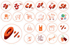 Icons for business and trade Stock Images