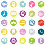 Icons Business Travel Sport law set retro flat design concept vector illustration Stock Image