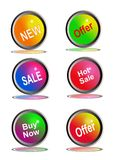 Icons for business Royalty Free Stock Photos