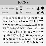 Icons, business, weather Royalty Free Stock Photos