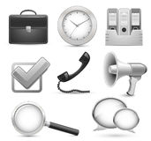 Icons for business web site stock illustration