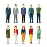 Icons of businessmen and businesswomen Royalty Free Stock Images