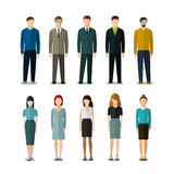 Icons of businessmen and businesswomen Royalty Free Stock Image