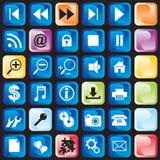 Icons button Royalty Free Stock Photos