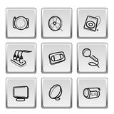 Icons on button Stock Image