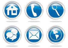icons and buttons Stock Photo