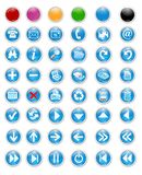 Icons and buttons Stock Photography